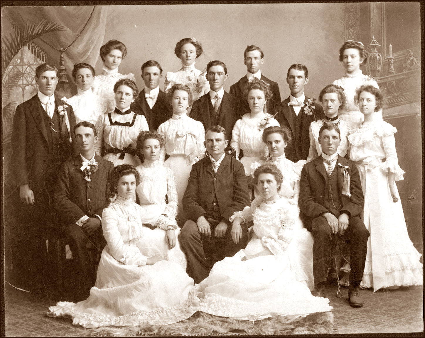 WAYNE CO., NEGENWEB PROJECT - FACULTY AND CLASSES OF 1901 NEBRASKA NORMAL  COLLEGE